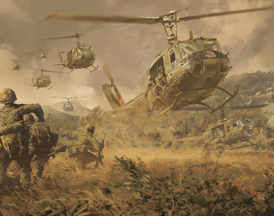Battle of Ia Drang valley 1965.by Balázs Petheő