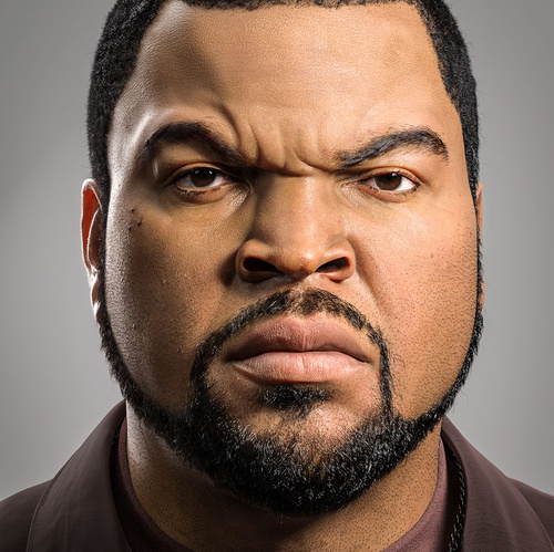 Ice Cube realistic portrait
