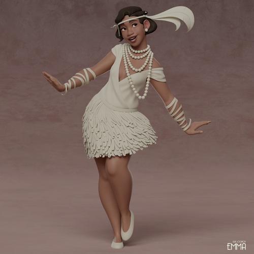 1920's female flapper design