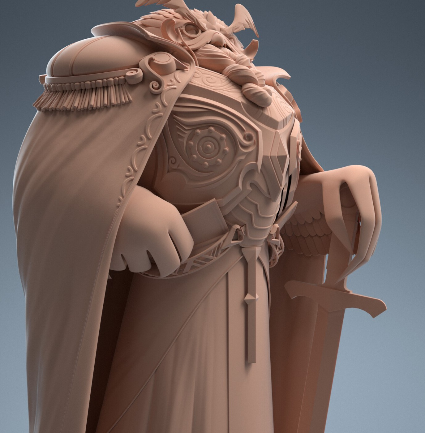 character model sculpture owl bird