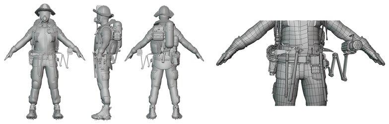 finalising 3d rigging model