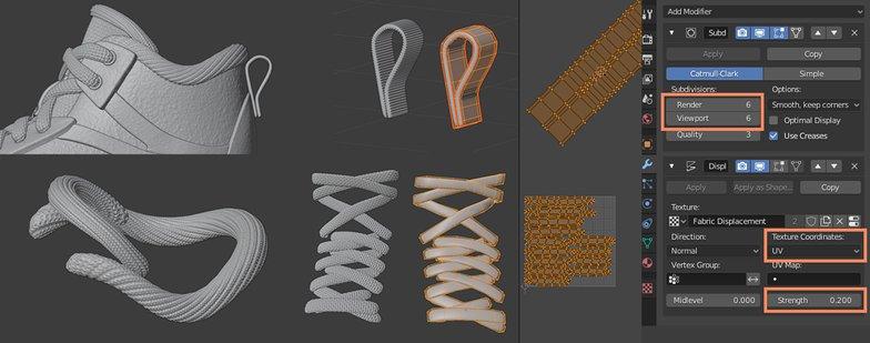 texturing 3d model shoes