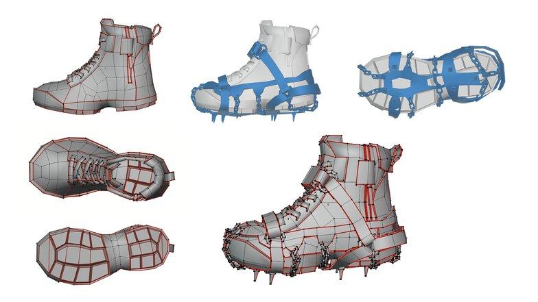 3d render shoe modelling