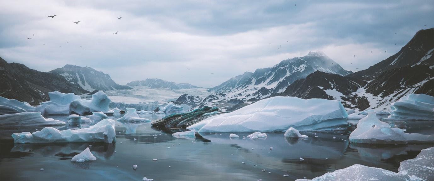 snow icy col environmental work piece art
