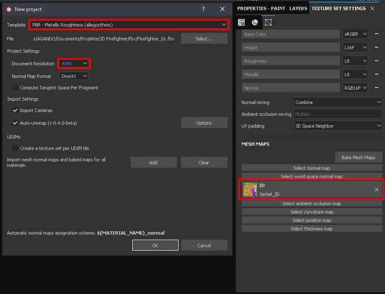 import substance painter settings textures