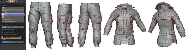 clothing retopology 3d making design
