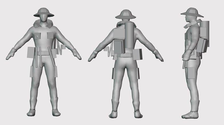 character blockout 3d model
