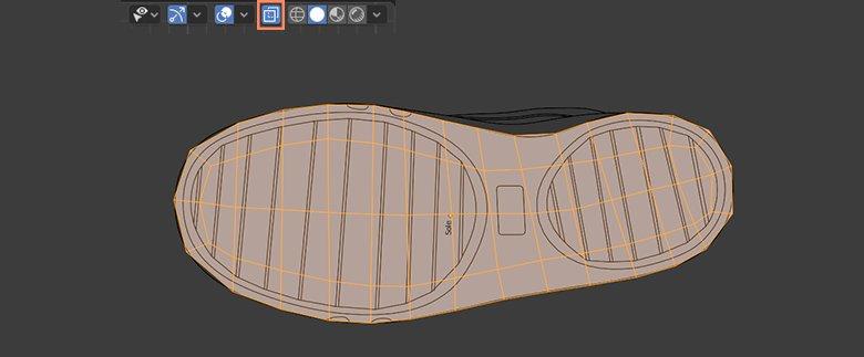 flat shoe sole 3d model