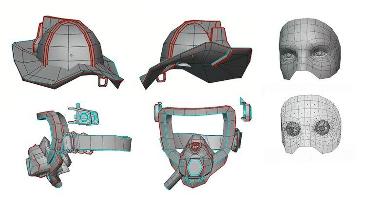 the head mask fireman 3d