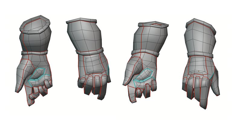 retopologize gloves 3d modelling