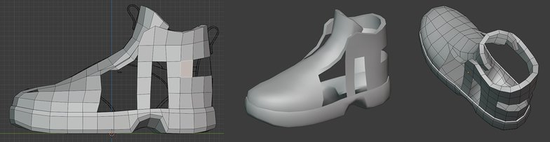 polygon stages 3d model shoes