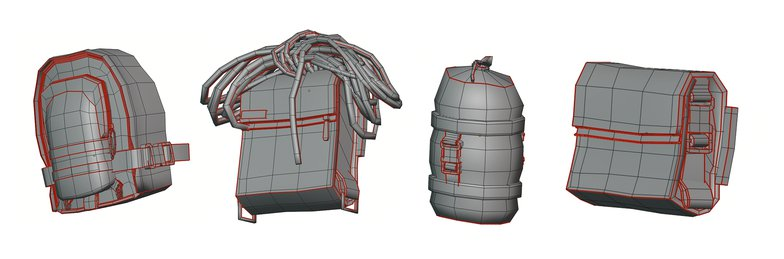 luggage 3d modeling