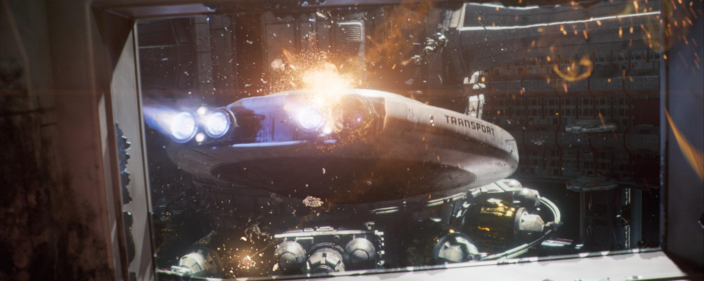 futuristic space battleship model 3d cgi