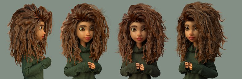 girl with jumper female character 3d model
