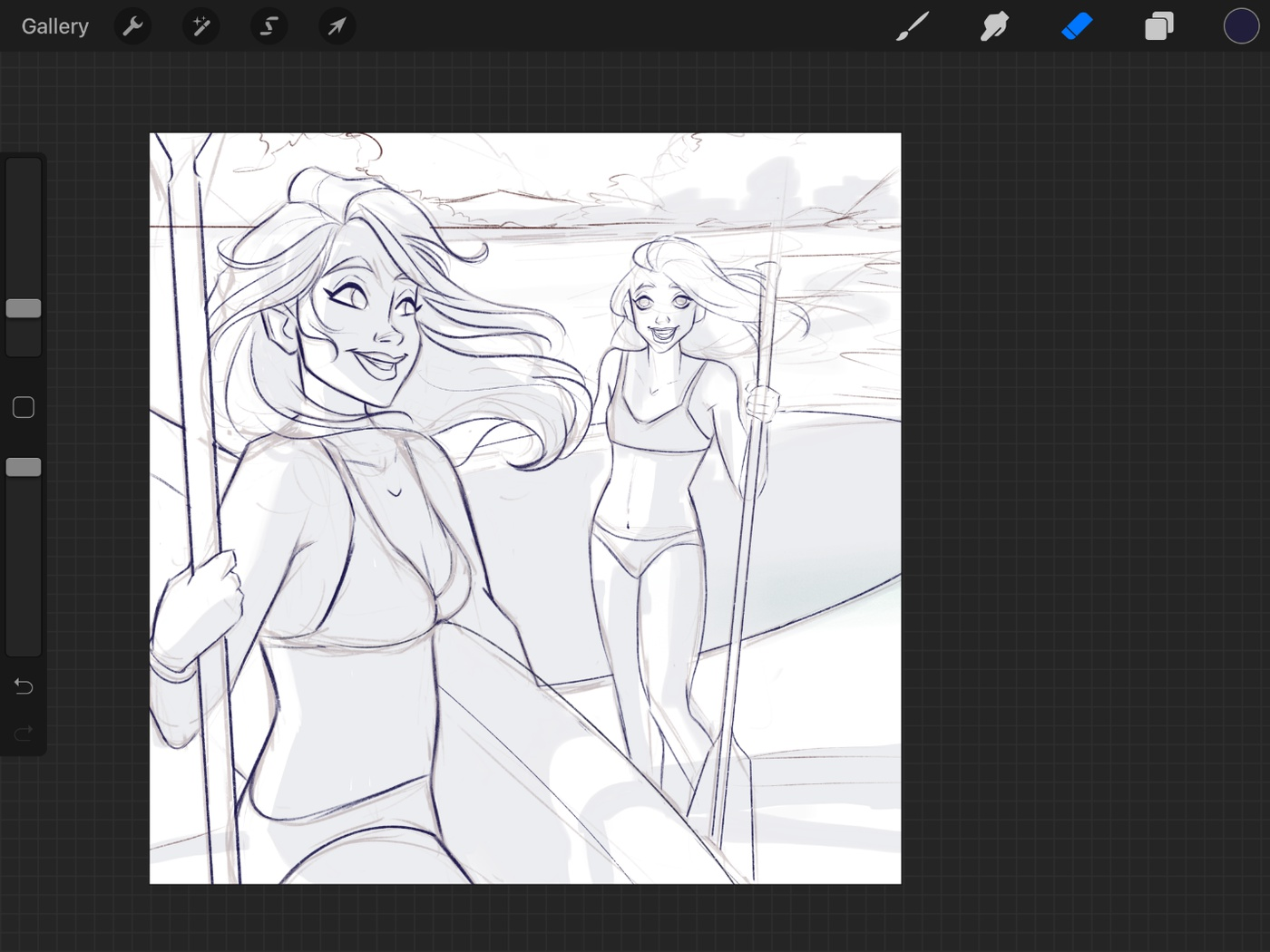 lines art render sketch layer finalising cleaning 2d