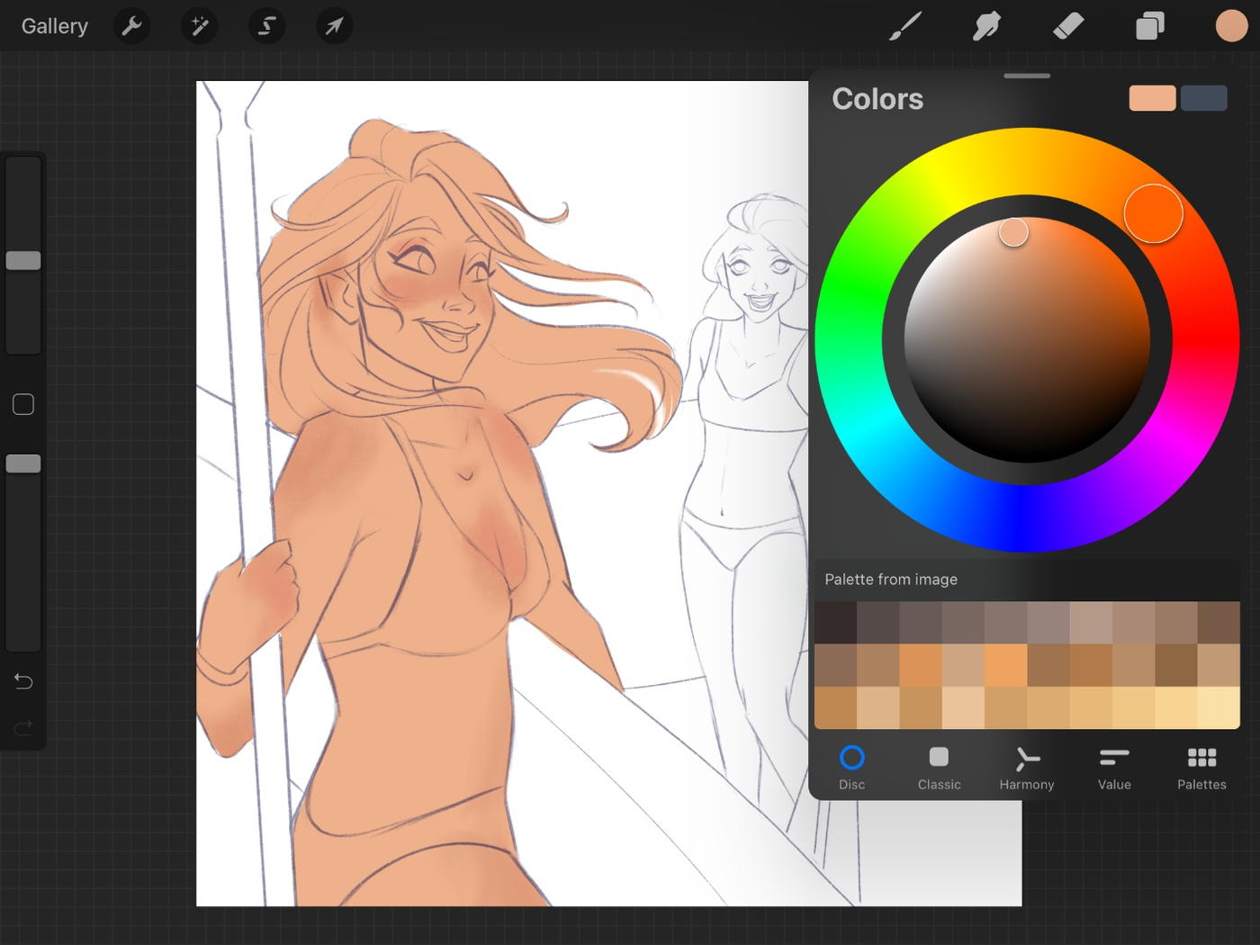 colouring characters 2d illustration female character design 2d