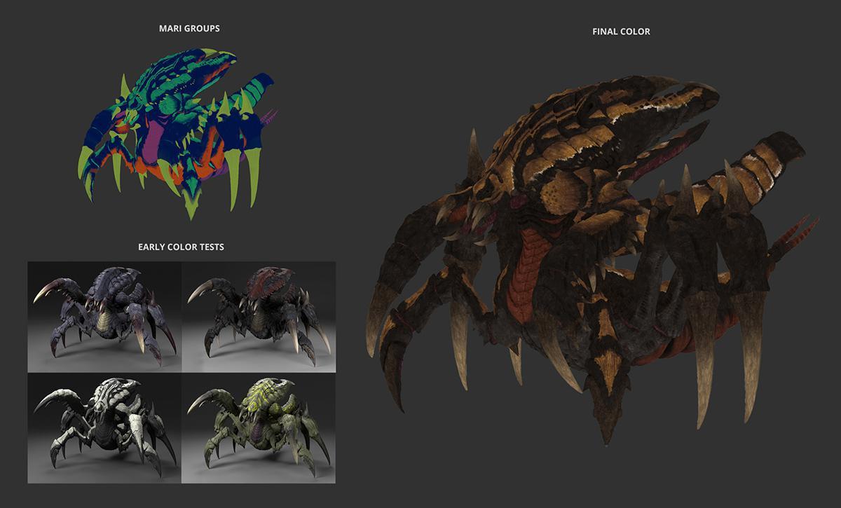 vfx colour testing beetle design