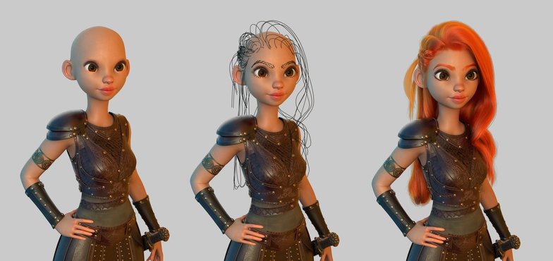xgen hair composition creation 3d model