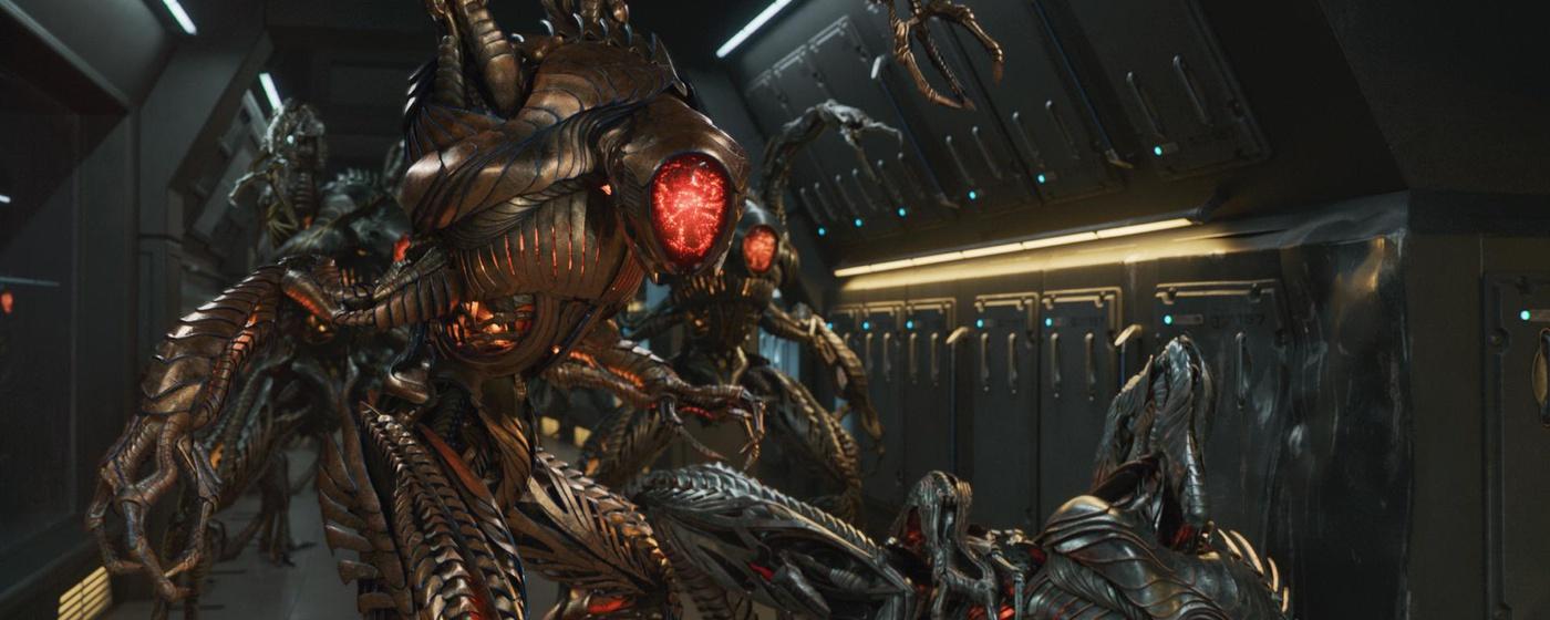 futuristic science fiction robot evil