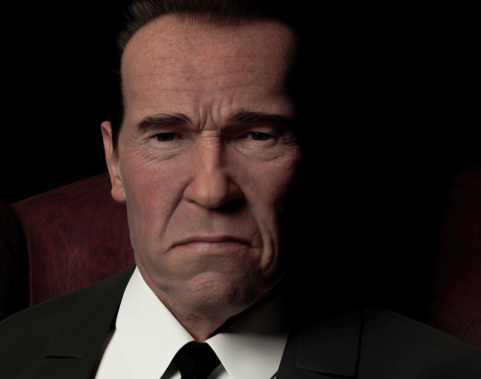 "Portrait ""Arnold Schwarzenegger""by Jerome Lefranc"