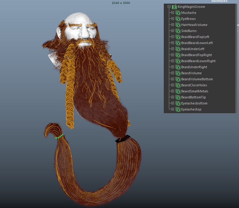 xgen guide braids and beard