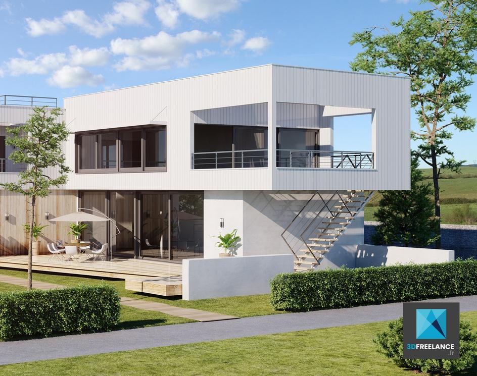 Real estate 3D renderingby grégory chevalier