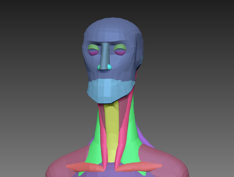 block rendering character design blockout modeling sculpting
