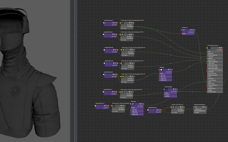 cloth shader render model 3d design settings maya arnold sculpt