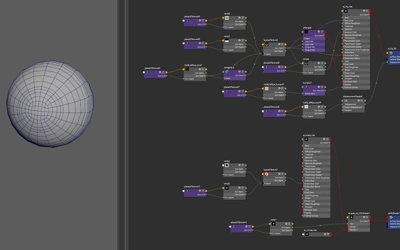 low-red modeling rendering adjustments nodes tweaking settings
