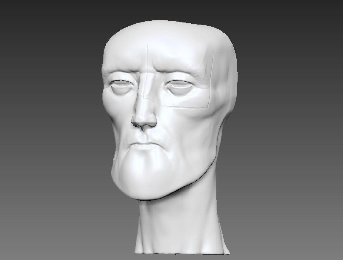 Dynamesh shapes 3d rendering sculpting character design 3d