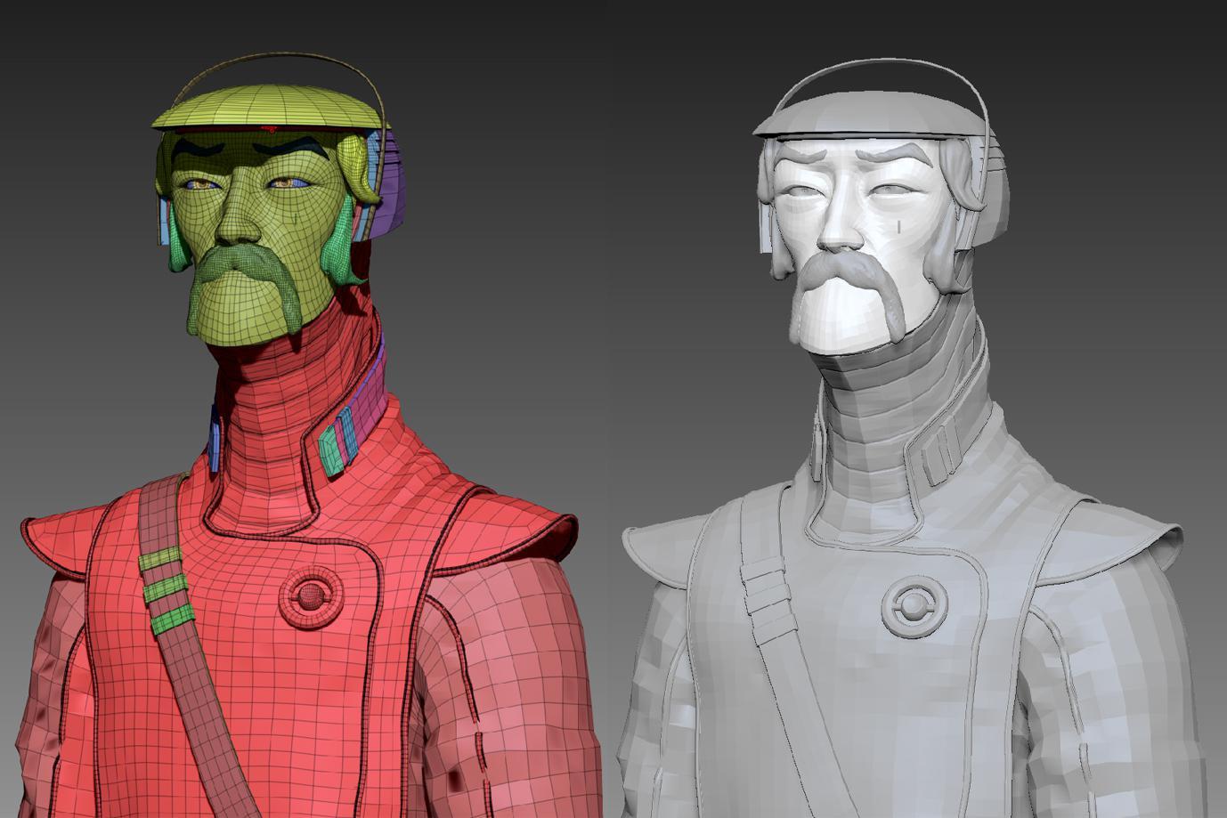 details rendering modeling sculpting 3d character design