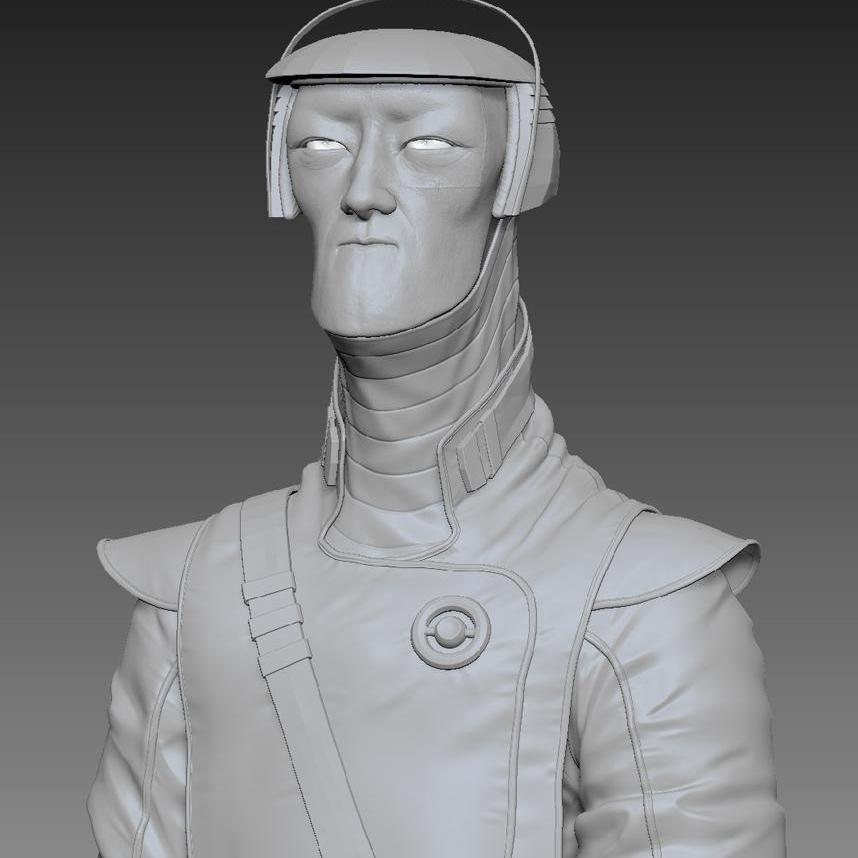 body blockout rendering modeling sculpting 3d character design