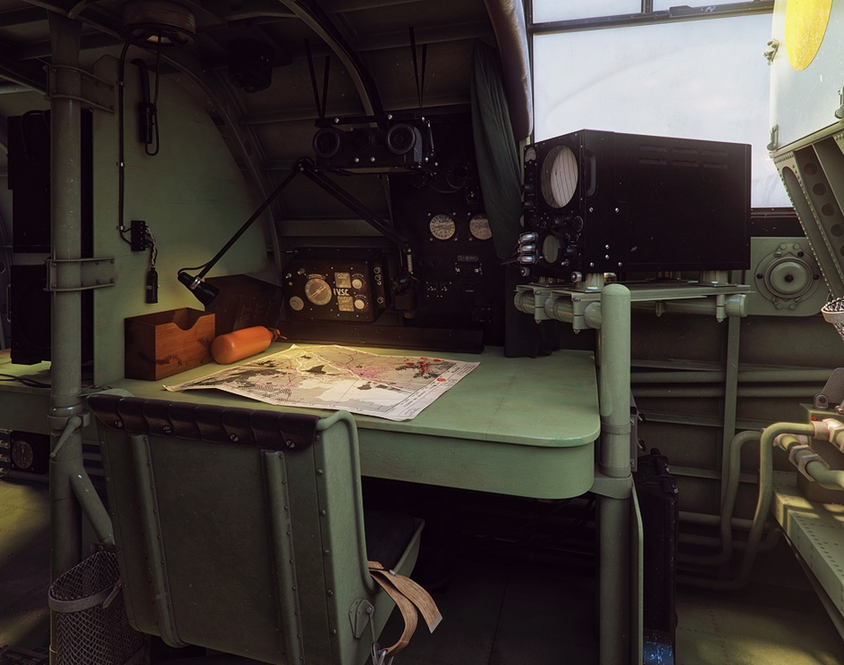 Avro Lancaster interiorby Piotr Forkasiewicz