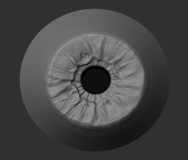 skin pores iris eye detailing 3d model