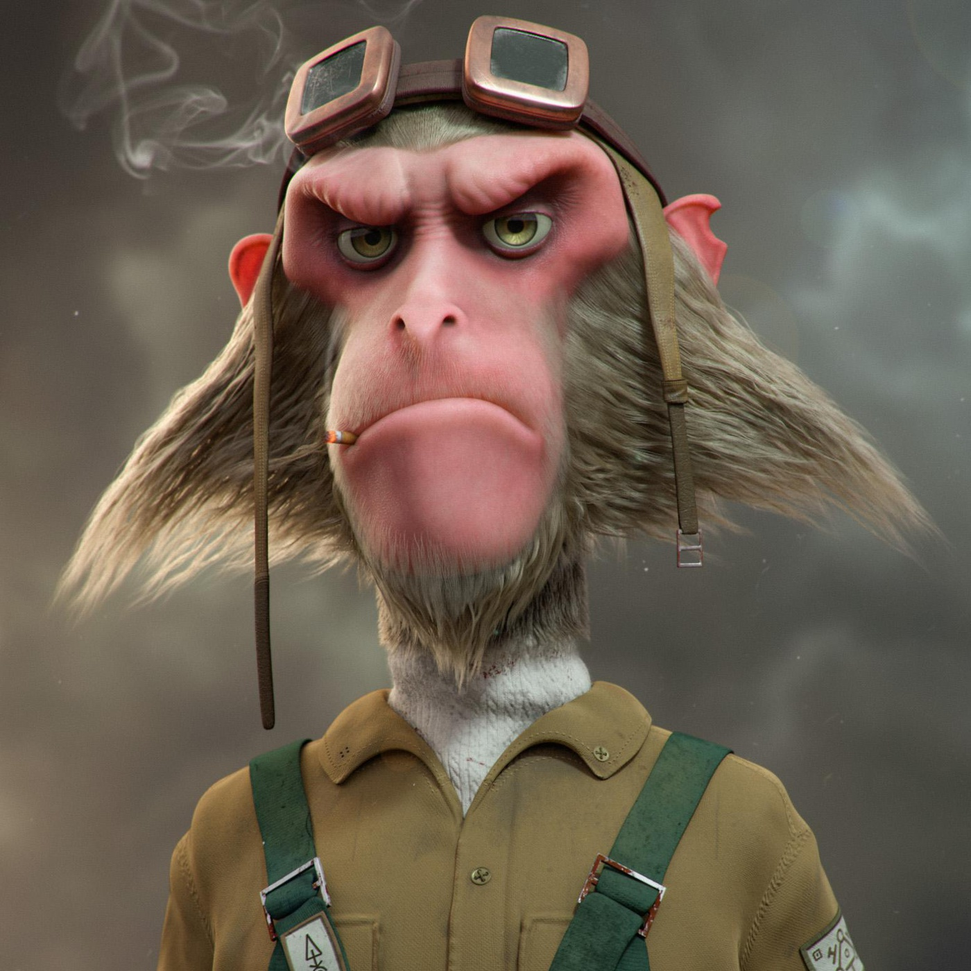 monkey 3d model render character design mammal detailing