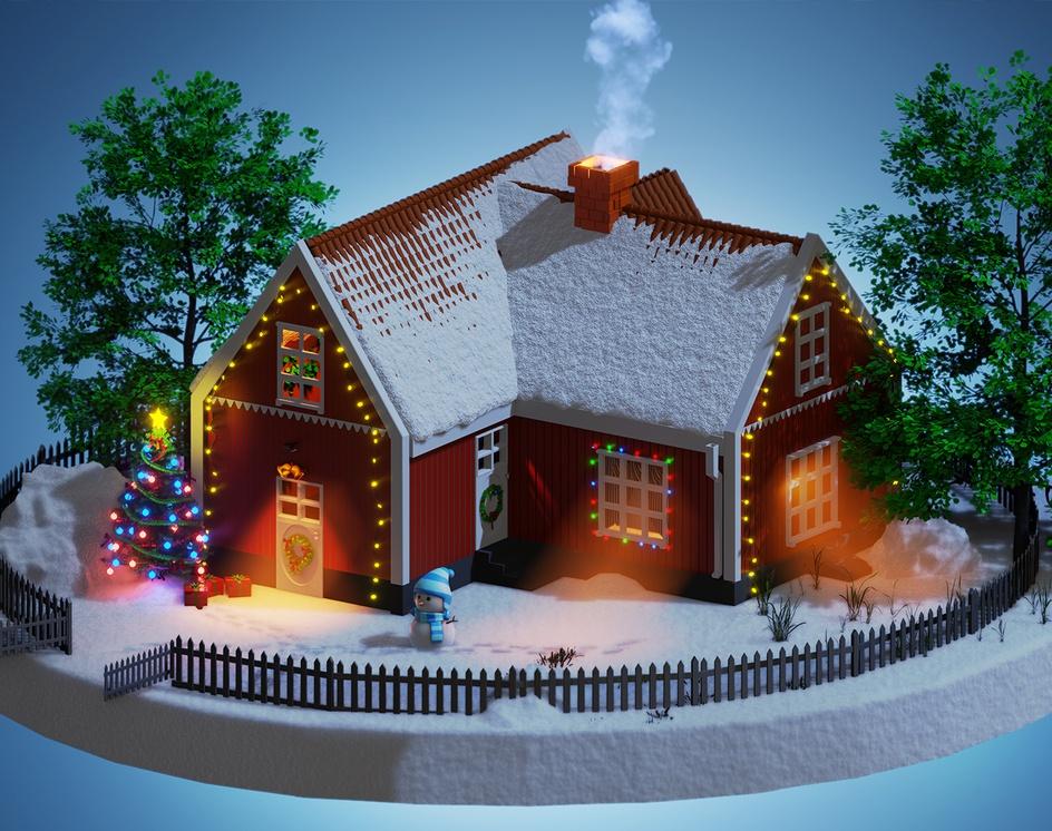 Christmas Sceneby Burak Gök