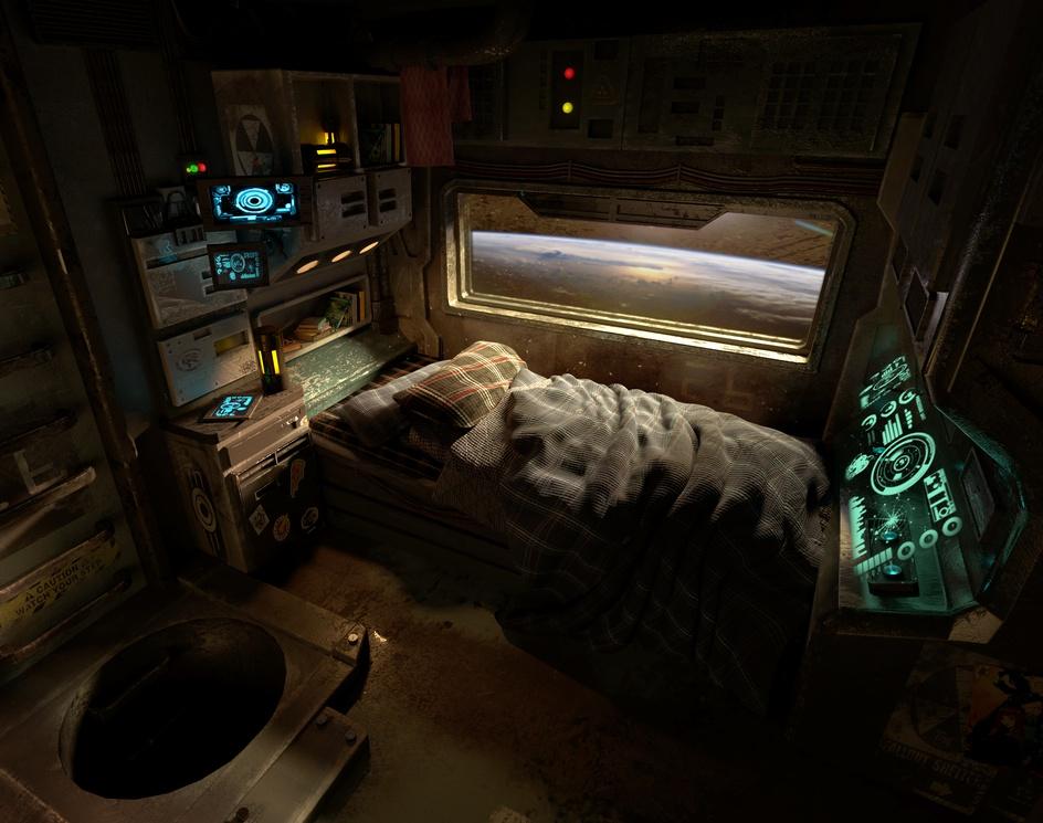 Bedroom in Orbitby Ivanna Liittschwager