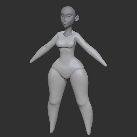 character, female, character body