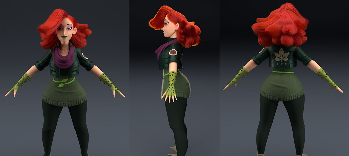 poison ivy, stylized character