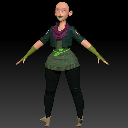 female character, character body, clothing