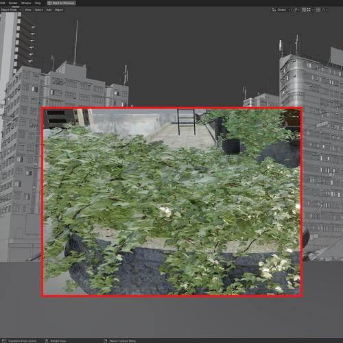 vine generator plant greenery 3d model