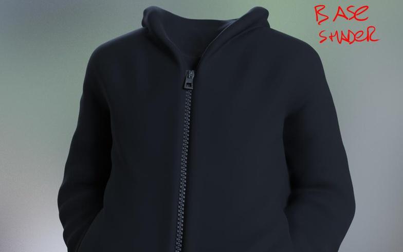 jacket base shader model materials clothing 3d fold