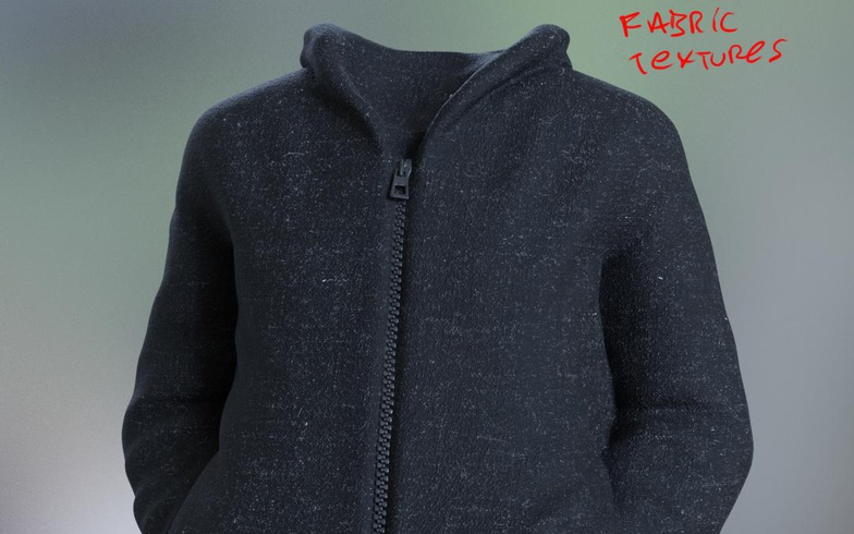 jacket fabric texture  realist model materials clothing 3d fold