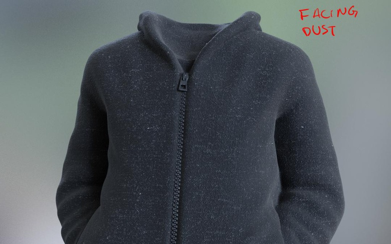 jacket facing dust realist model materials clothing 3d fold