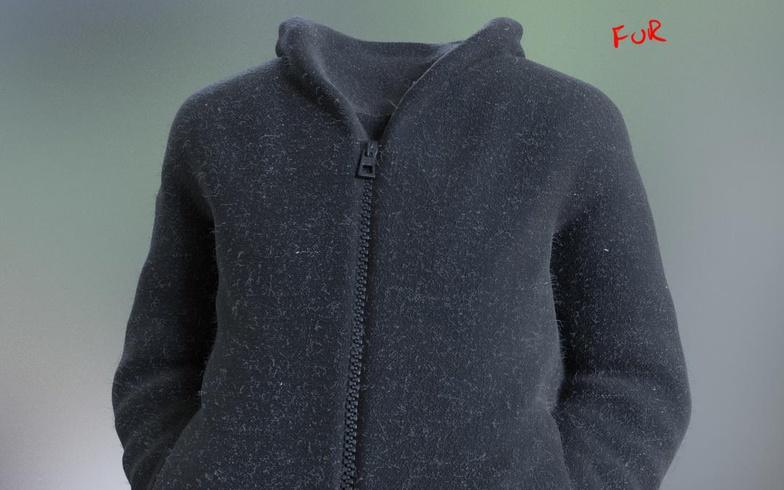 jacket realist model materials clothing 3d fur