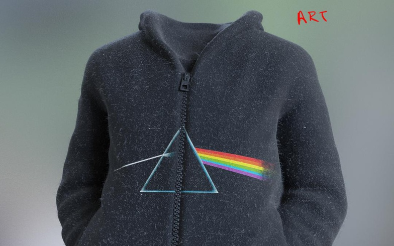 jacket hoodie realist model materials clothing 3d fold