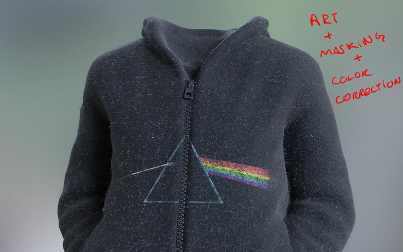 3d model jacket hoodie color correction materials