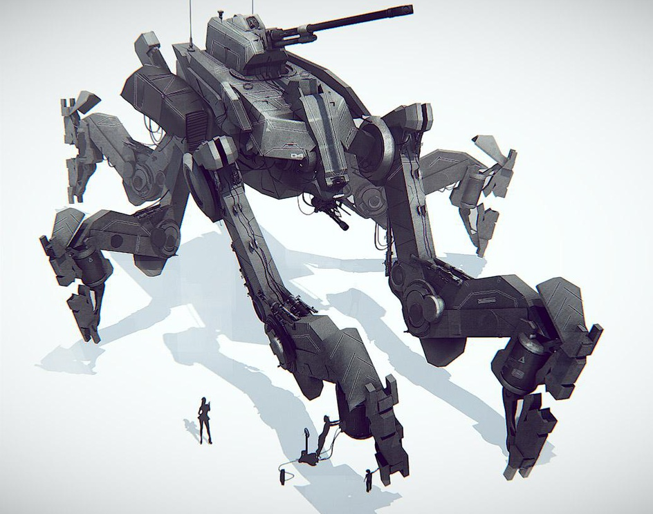 An Concept for an Epic sized mechby James R