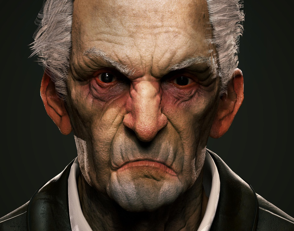 Dishonored- Bust of Grifby Jan Haller Sáenz