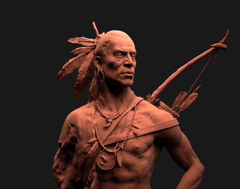 The Hunter- Clay renderby santhoshracha